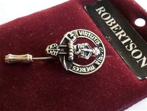 Gloria Brooch silver tone virtutis gloria merces lapel pin brooch