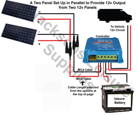 wiring diagram for caravan solar panel with