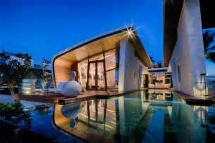 resort home design interior casa moderna de un piso con dise 241 o de fachada ovalada