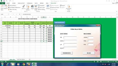 membuat form di excel 2003 membuat aplikasi form sederhana di ms excel 2013