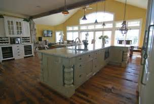 Beautiful Kitchen Island by Custom Kitchen Cabinetry Very Big And Beautiful Also
