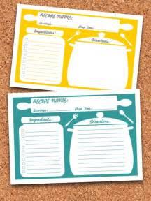 recipe maker template recipe cards printable editable instant