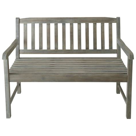 wooden garden bench seat 2 seater greyed acacia wood garden bench seat st malo