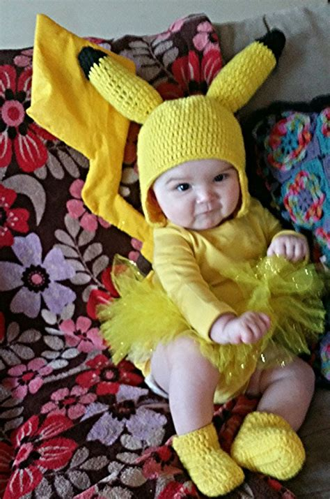 Handmade Baby Costumes - inspiration only handmade baby pikachu costume crochet