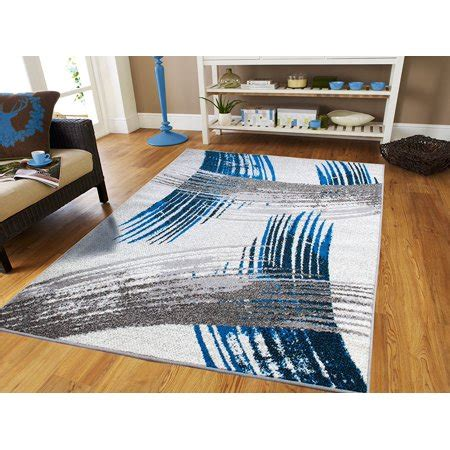 Room Size Area Rugs by New Fashion Collection Contemporary 5x7 Area Rugs Blue