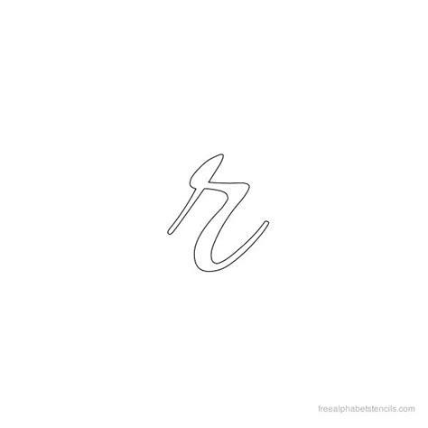 small r allura cursive alphabet stencils in lowercase small letters freealphabetstencils