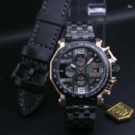 Tetonis Paket jam tangan tetonis paket rantai hitam tali kulit