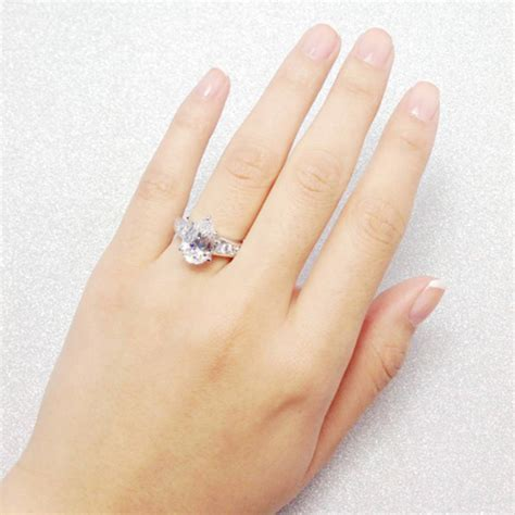 berricle sterling silver pear cut cz solitaire engagement