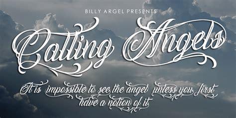 calling angels font dafont com