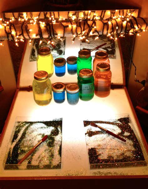 reggio emilia light table reggio inspired color dust teaching
