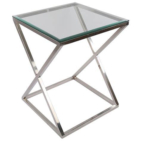 Beistelltisch Glas Metall by Tisch Verchromt Glas Tischplatte Beistelltisch Glas