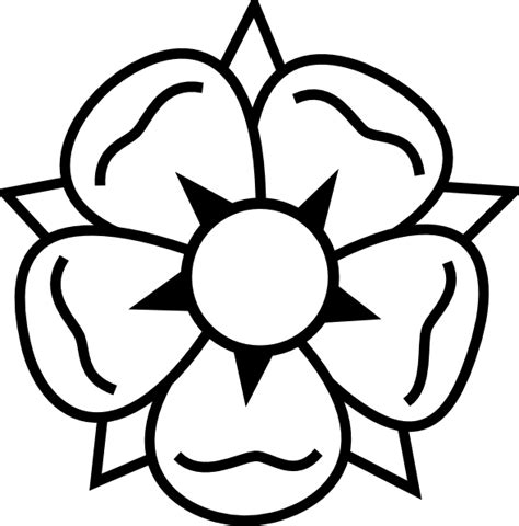 flower tattoo clip art at clker com vector clip art