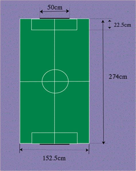 what are the dimensions of a ping pong table robocup new regulation
