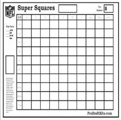 Office Football Pool 25 Squares Bowl Squares Pro Draft Kits