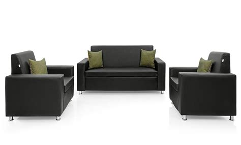 3 in 1 sofa westido sofa set 3 1 1 in black pu upholstery without