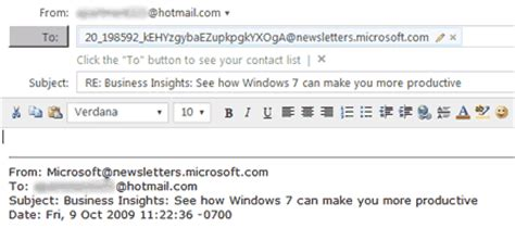 format email hotmail sle confirmation emails images