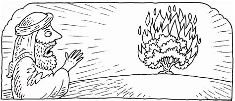 burning house coloring page smart moses and the burning bush coloring page printable