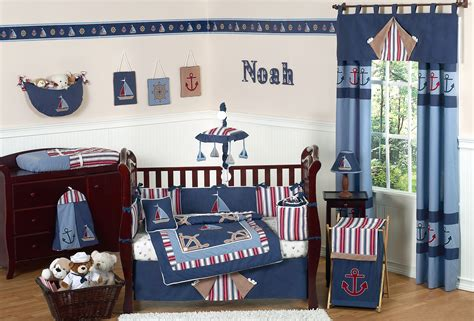 Nautical Crib Bedding Sets Navy Blue Nautical Baby Crib Bedding Set 9pc Infant Nursery Collection Sailboats Anchor