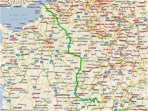 route map road map of southern
