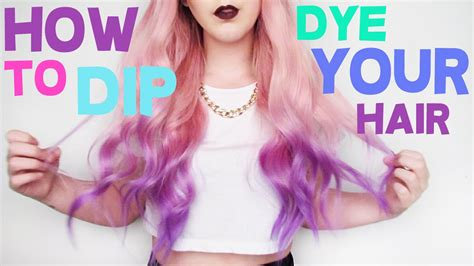 how to your outside how to dip dye your hair by tashaleelyn