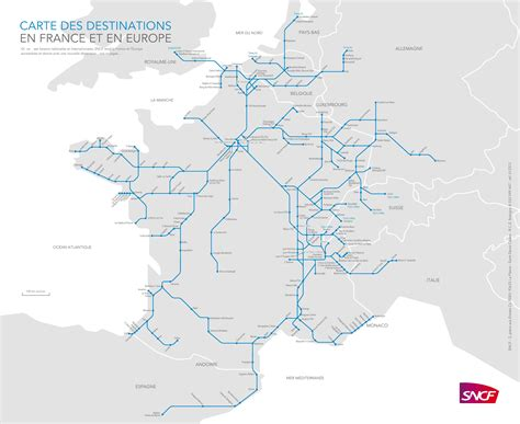 train routes map of tgv train routes and destinations in france