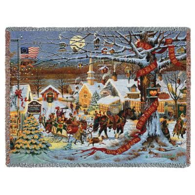 christmas tapestry throws princess decor