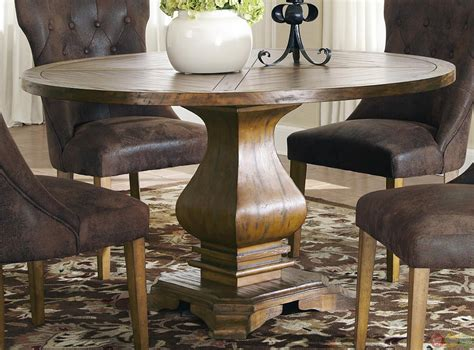 round table dining room sets parkins round pedestal table dining room set