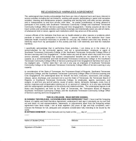 restitution agreement template restitution agreement template 9 hold harmless agreement