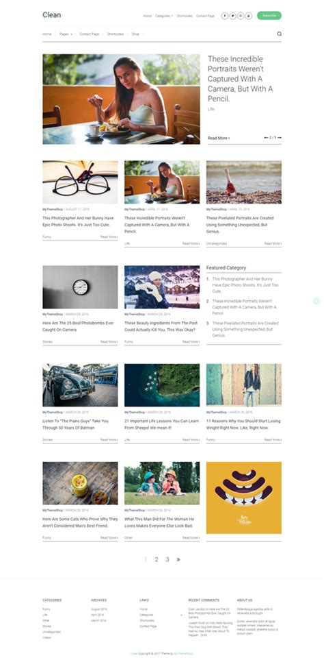 recommended clean wordpress themes wordpress themes 39