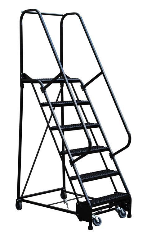 4 step esd safe portable warehouse ladder