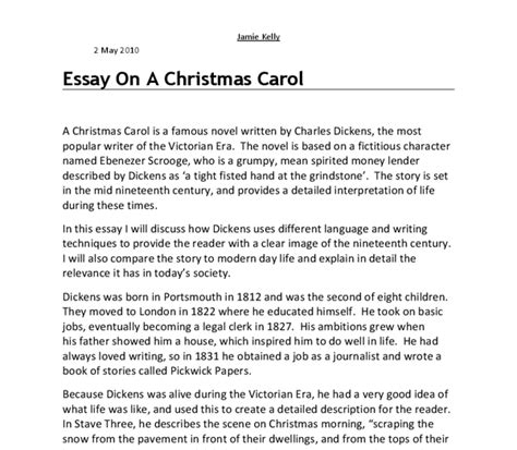 Charles Dickens Essays by How To Write A My Impression Essay