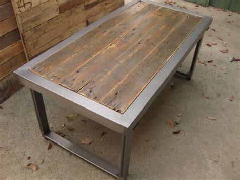 Repurposed Coffee Tables Repurposed Pallet Wood And Steel Coffee Table
