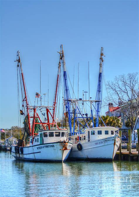 shem creek shrimp boats shem creek shrimp boats photograph by kathy baccari