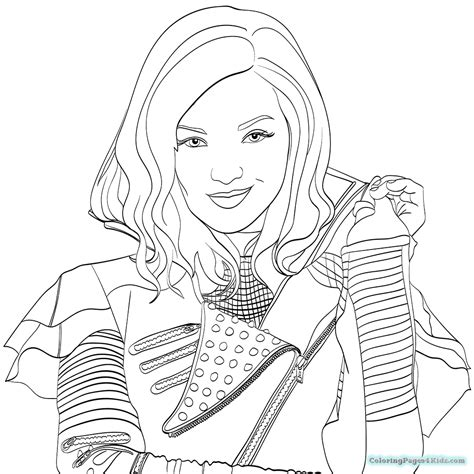 free coloring pages disney descendants descendants coloring pages 2 coloring pages for kids