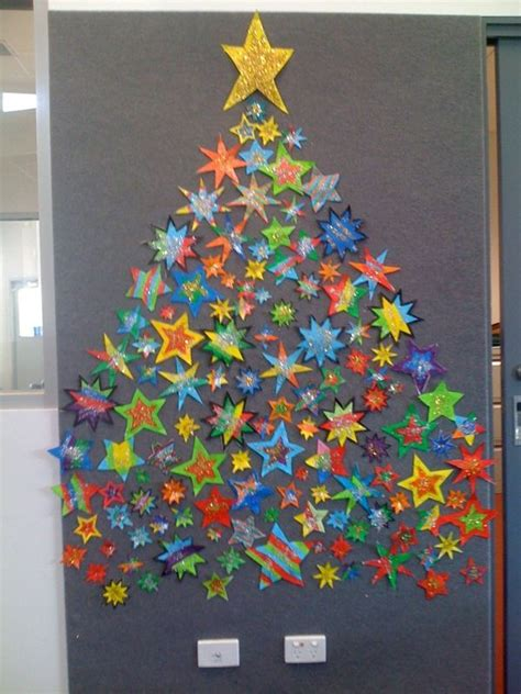 christmas tree made of stars classroom ideas pinterest