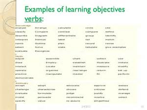 Statement Of Educational Objectives Examples Of Objective Statements Examples Of Objective