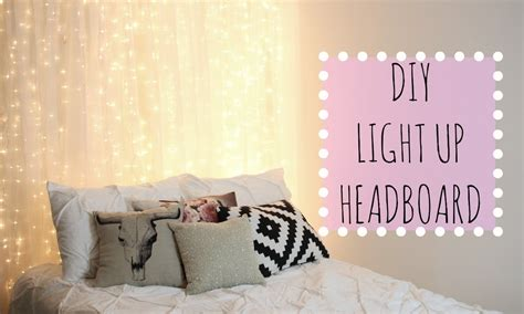 light up headboard bed diy light up headboard affordable room decor youtube