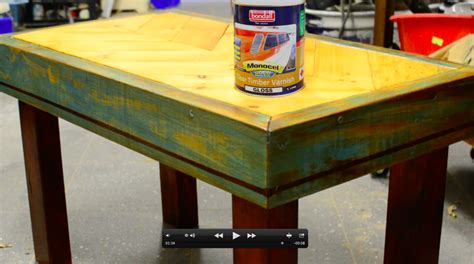 varnish for wood table upcycling a pallet into a coffee table with monocel wood