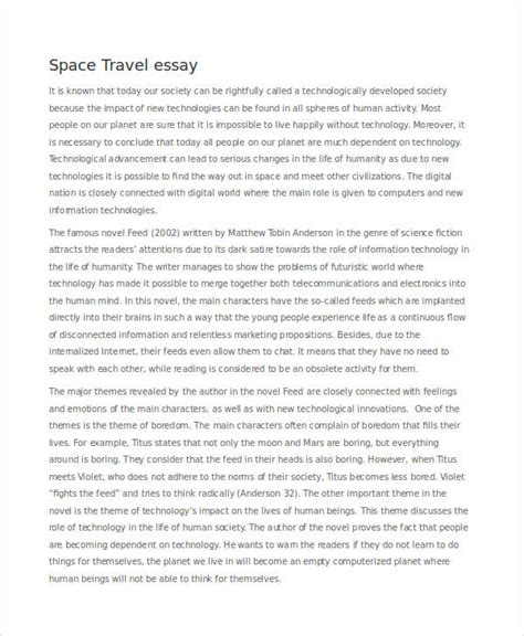 Spaced Essay Exle by New Technology Essay Topics