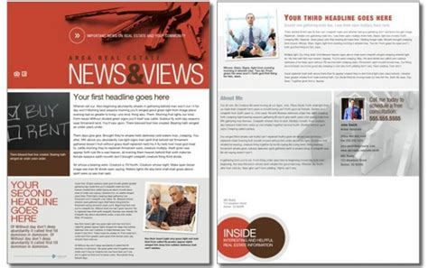 Real Estate Newsletters Newsletter Templates For Real Estate Agents
