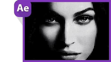 photoshop dot pattern effect after effects tutorial halftone effect after effect