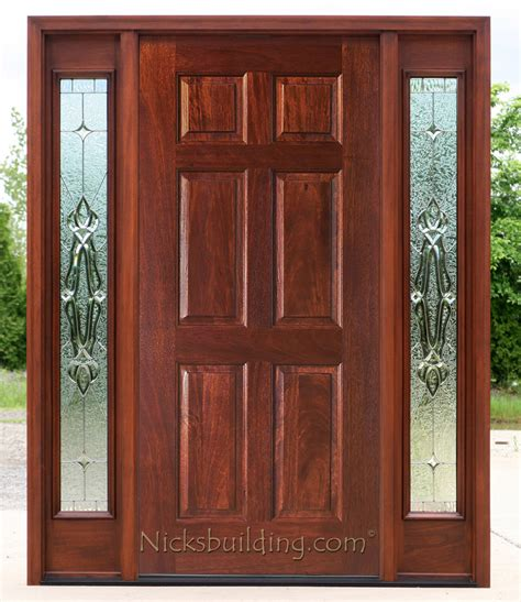 6 panel front door with sidelights exterior doors with sidelights solid mahogany entry doors