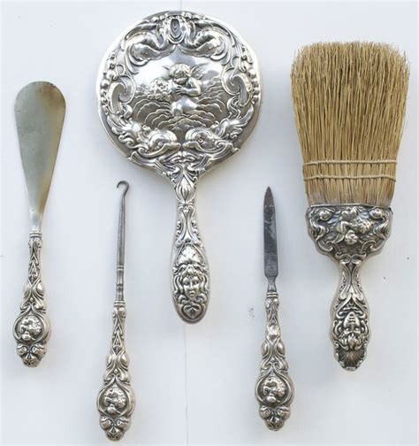 160 best images about antique silver vanity sets on