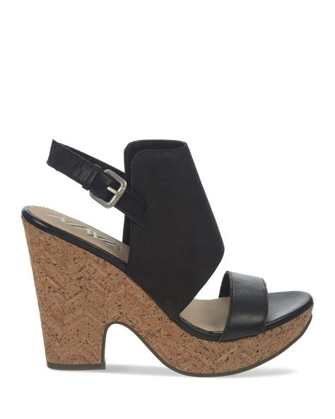 cork high heel sandals naya platform sandals two cork high heel in