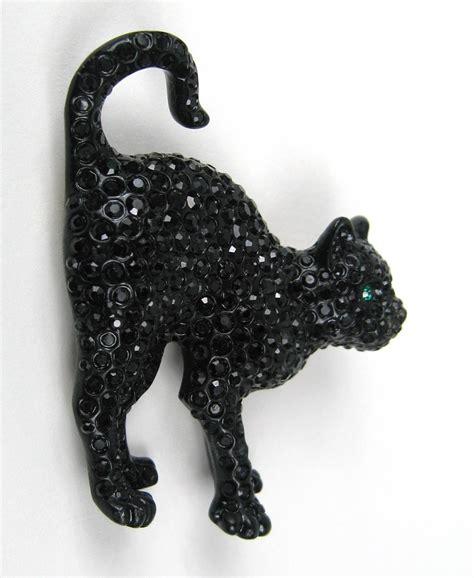 2 Die 4 Swarovski Black Cat Brooch by Swarovski Glitz Black Cat Brooch Pin New Stock