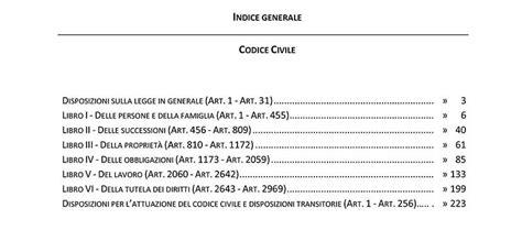 testo codice civile testo integrale codice civile