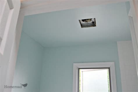 how to paint bathroom ceiling homeroad painting the master bathroom