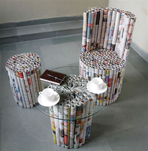 Newspaper Chair by Authentica Classics Brilliant Creativity In Re Purposing