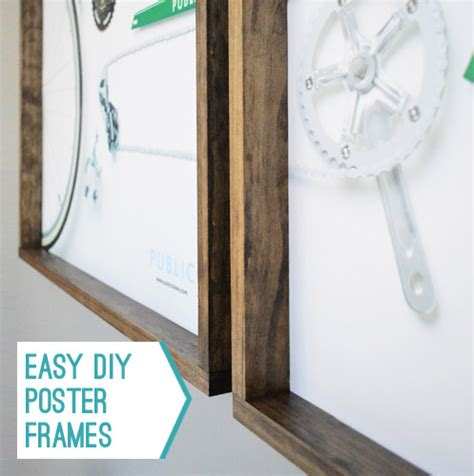 poster frame ideas easy wood frames for large or posters
