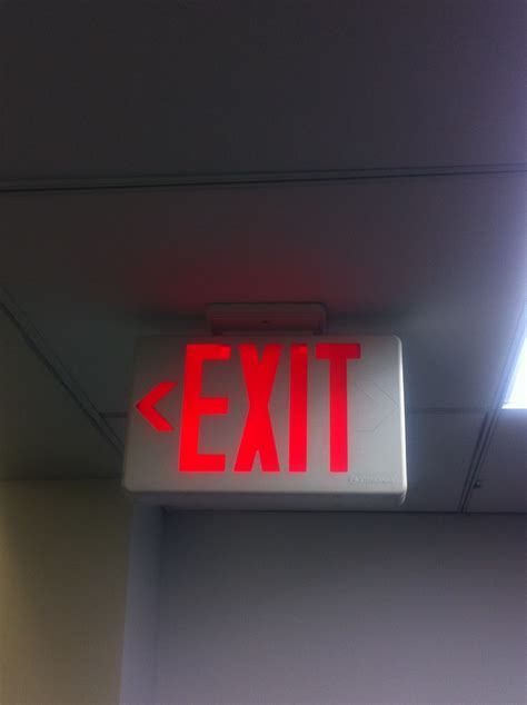 Exit A fixated on fixtures news on emergency lights exit